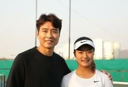 이동국, '테니스 유망주' 딸 재아 응원..
