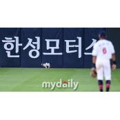 [MD포토] 벤츠 보다 빠른 사직야구장 야구장 고양이의 질주