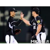 오승환 `야마토 호수비 2014야마토 최고!` [MK포토]