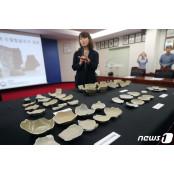 제주 신창리바다서 발견된 릴바다 중국 남송대 청자 릴바다