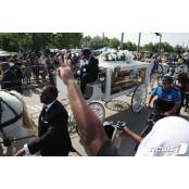 플로이드 배웅하는 휴스턴 휴스턴 시민들