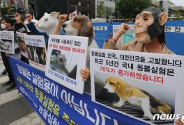 '동물실험 중단하라'