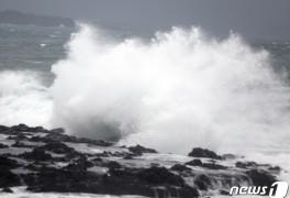 태풍 '찬투' 제주 70 근접…시간당 50~80 강한 비