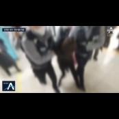 '문재인 하야' 전단지 뿌리던 女 여자수갑 수갑체포…과잉진압 논란