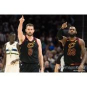[오늘의 NBA] (3/20) 러브제리 르브론+러브 재회 클리블랜드, 러브제리 밀워키 제압