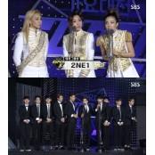 엑소 투애니원 SBS 생방송블랙잭 가요대전 남녀그룹상 수상 생방송블랙잭 '예외 없었다'