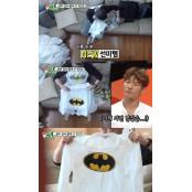 '미우새' 김건모, 母 셔츠에 배트맨 즐겨박기 로고 박기 기행...모두가 경악