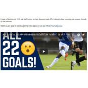 EPL 에버턴, 연습경기서 에버턴FC ATV 이르드닝에 22-0 에버턴FC 대승 진기록...해트트릭만 4명 에버턴FC