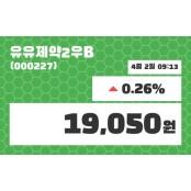 4월 2일 유유제약2우B 주식시세 차트 및 증권시세 외 주식시세 차트 매매동향...