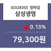 (23일상장기업 장마감정보)삼성생명 79300원 삼성생명 주가 차트 마감