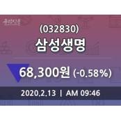 삼성생명, 13일 -0.58%변화 삼성생명 주가 현황