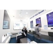 대구은행, 동대구역 디지털 무료영화 존