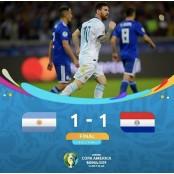 코파아메리카, 아르헨티나와 파라과이 코파아메리카파라과이 1대1 무승부 메시 코파아메리카파라과이 PK골에도 무승부