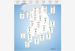 오늘날씨 곳곳 돌풍·