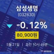 5월 21일 삼성생명 삼성생명 주가 차트 주가차트 80900원 -0.12% 삼성생명 주가 차트