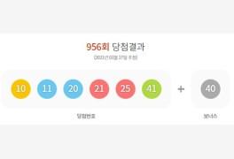 로또 956회 당첨번호조