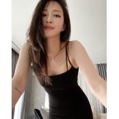 """한예슬, 검은색 슬립 원피스로 완성한 섹시美 """"반하겠어"""" 섹시슬립 [SNS★컷]"""