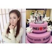 산다라박, 2NE1 데뷔 생방송블랙잭 3주년 기념 케이크..