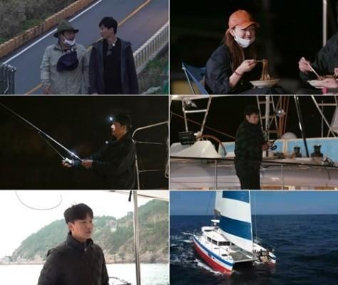 '바닷길 선발대' 김남길·박성웅·고규필·고아성, '바다낚시의 꽃' 밤낚시 도전 | 포토뉴스