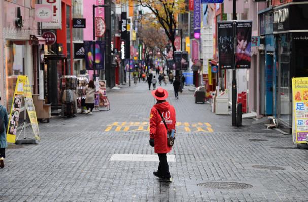 [서울포토]한산한 명동거리 | 포토뉴스