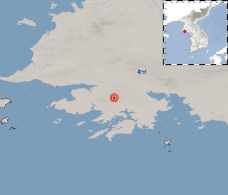 기상청, 북한 황해남도 웅진 북쪽서 규모 3.1 지진 일어나 | 포토뉴스