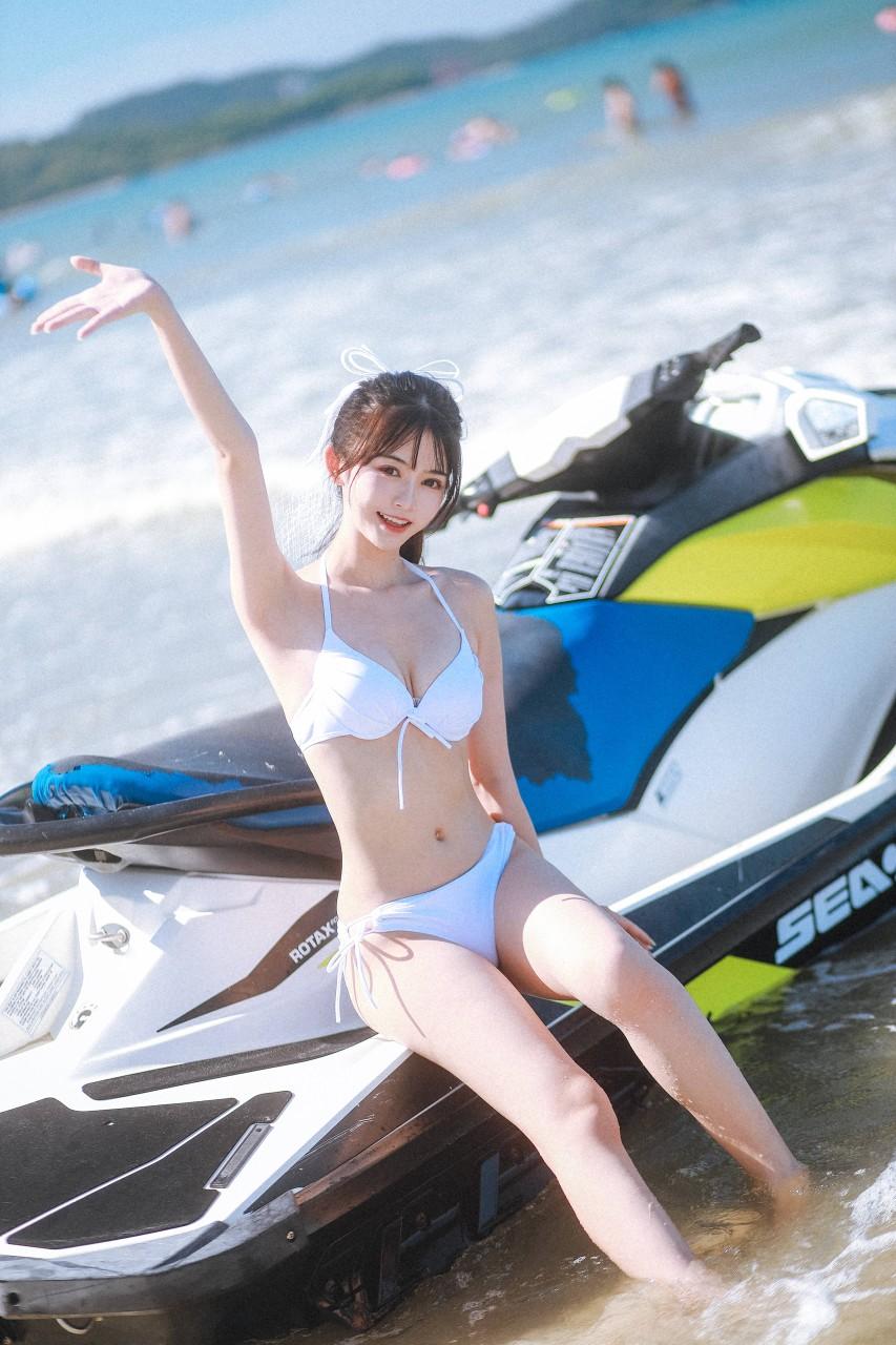 "COSER女菩萨""鳗鱼霏儿"" 海边比基尼写真在线看-写真-『游乐宫』Youlegong.com 第8张"