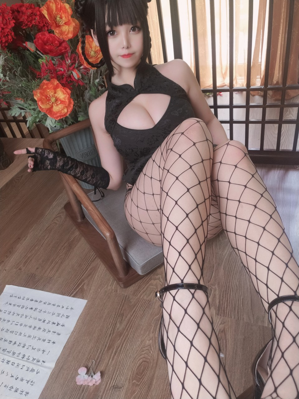 蜜汁猫裘-皮衣舞娘COS主题在线[42P]-觅爱图