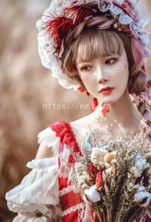 阿包也是兔娘 - lolita红裙[12P-160.8MB]