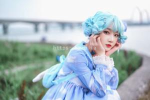阿包也是兔娘 - lolita蓝裙[9P-123.5MB]